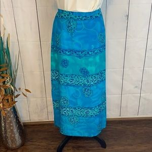Worthington Breezy Blues Long Skirt